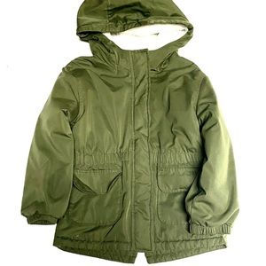 Wonder Nation Army Green Lined Winter Coat 5T
